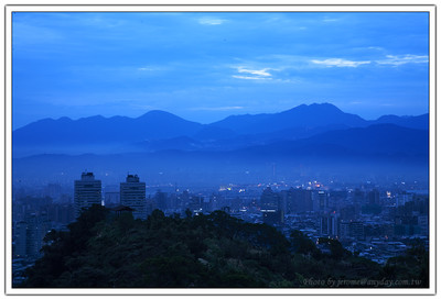 城市暮色,evening mist of th city