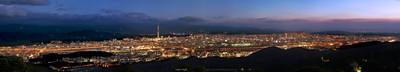 Taipei Night, 繁華台北城超寬景