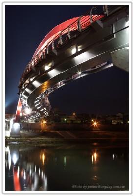 台北彩虹橋有趣的結構曲線