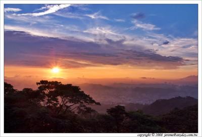 夕陽, 木柵, 雨後城市, 台北城