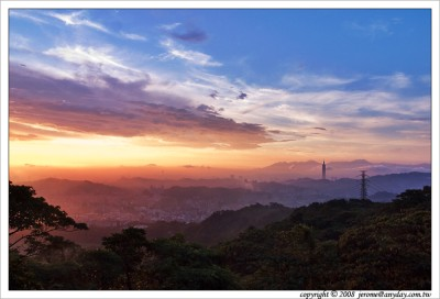 Taipei 101, 101, 夕陽, 木柵, 雨後城市, 台北城