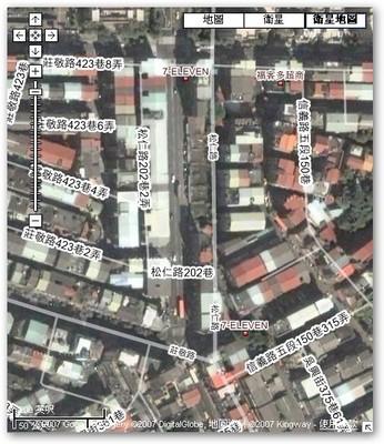 不過話說回來,我還是比較希望 Google Map 跟 Google earth 上面地圖跟衛星相片的偏宜可以快做一個修正啦!因為如果持續偏移,在上面標誌位置很累耶!