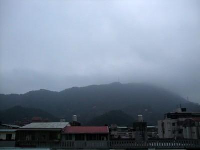 很差的台北市地面景色