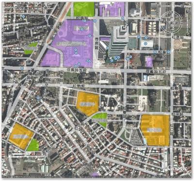 Google Earth 上面提供的信義計畫區街道名稱