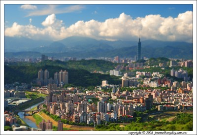 Tilt-Shift Photography, taipei 101